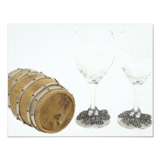 WineBarrelGlasses110709 copy Custom Invitation