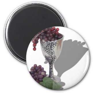WineChaliceGrapes060910shadows 6 Cm Round Magnet