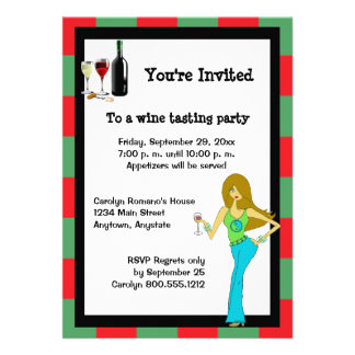 WineDiva Wine Tasting Party Custom Invites