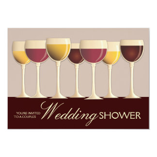 Wineglass Selection Couples Wedding Shower Card