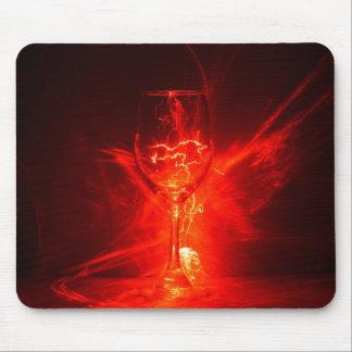 Wineglass Under Laser Fire Mousepad