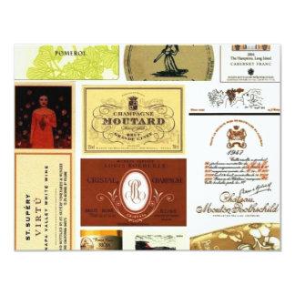 winelabel-inspiration 11 cm x 14 cm invitation card