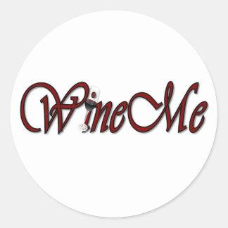 WineMe Round Sticker