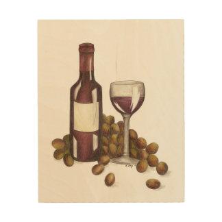 Winery Bar Restaurant Red Wine Glass Bottle Art