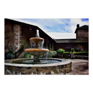 Winery Fountain Poster