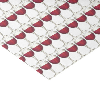 Winery Glass Bottle Red Wine Bar Print Pattern Tissue Paper
