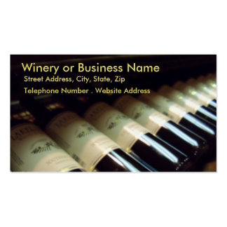 Winery or Business Address Card Profile Card Pack Of Standard Business Cards