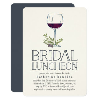 Winery or Wine Tasting Bridal Luncheon Invitation