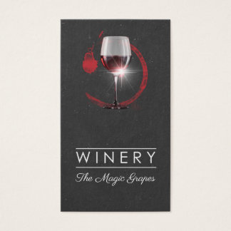 Winery shop business card