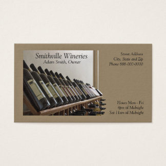 Winery Wine Making Business Card