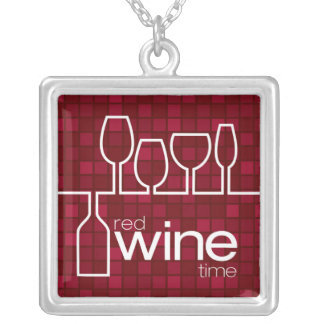 WineTime Silver Plated Necklace