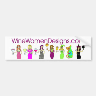 WineWomenDesigns.com Bumper Sticker