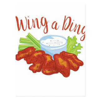 Wing A Ding Postcard