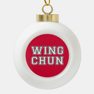 Wing Chun Ceramic Ball Christmas Ornament