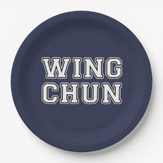 Wing Chun Paper Plate