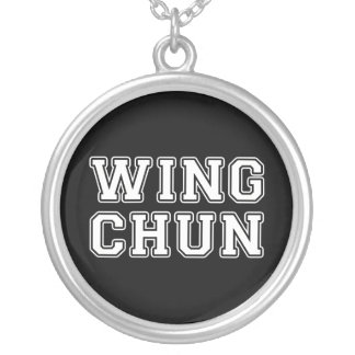 Wing Chun Silver Plated Necklace