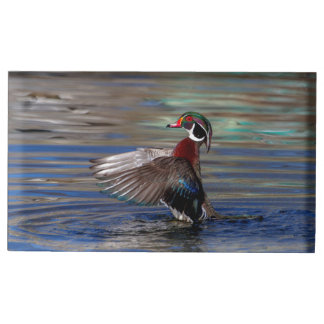 Wing Flapping Wood Duck Table Card Holders