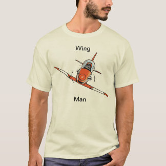 Wing Man Funny Aviation Cartoon Shirt