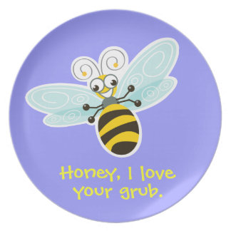 Wing-Nutz™_Bumble Bee (Buzz)_ I love your grub Plate
