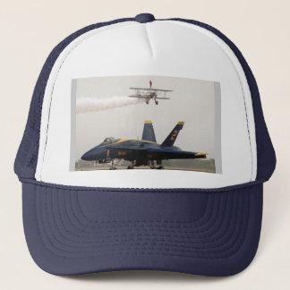 Wing Walker over Angel Trucker Hat