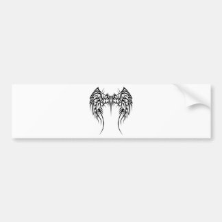 Wing wind bumper sticker