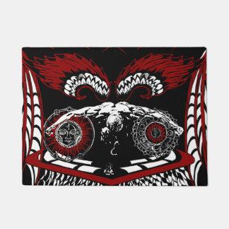 Winged angel door mat