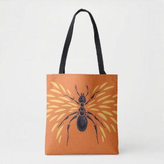 Winged Ant Fiery Orange Tote Bag