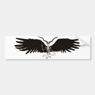 Winged Baphomet Bumper Sticker