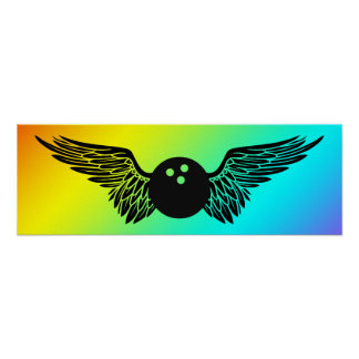winged bowling print