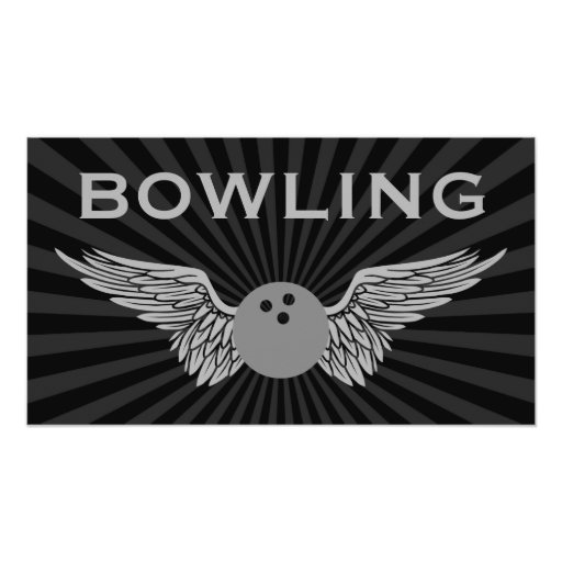winged bowling poster