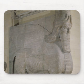 Winged bull at a facade of King Sargon II's Mouse Pad