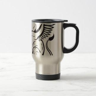 Winged Cat creature Travel Mug