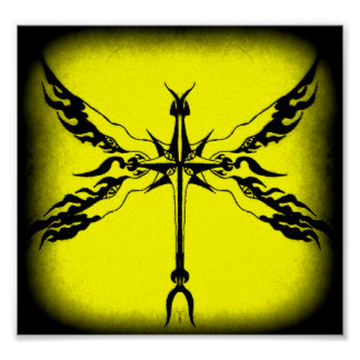 winged cross poster