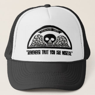 Winged Death Skull Cemetery Baseball Hat