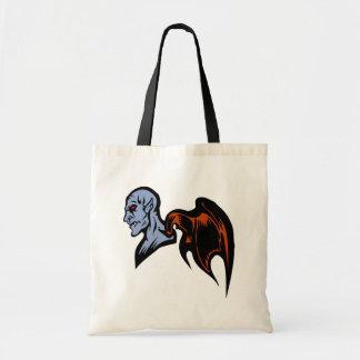 winged demon tote bags