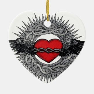Winged Desire by TEO Ceramic Heart Decoration