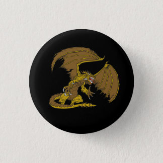 Winged Dragon Demon Monster Graphic Pinback Button