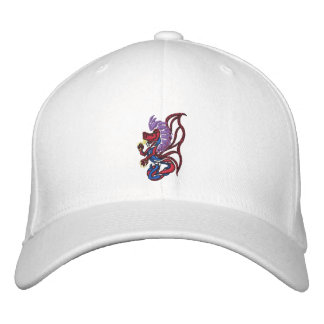 winged dragon embroidered baseball cap