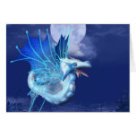 Winged Dragon in Flight Greeting Card