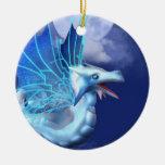 Winged Dragon in Flight Ornaments