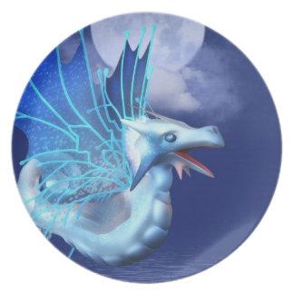 Winged Dragon in Flight Plate