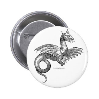 Winged dragon pin-back button