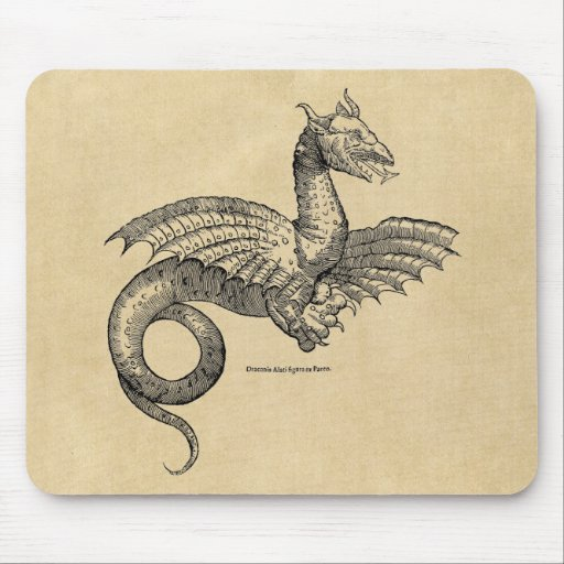 Winged Dragon Sepia Mousepad