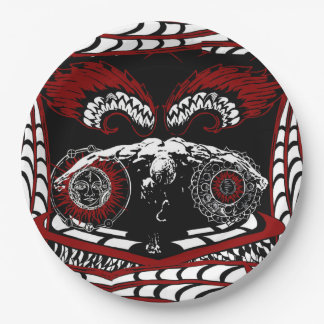 Winged fallen angel paper plates 9 inch paper plate