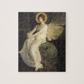 Winged Figure Seated Upon a Rock by Abbott Thayer Jigsaw Puzzle