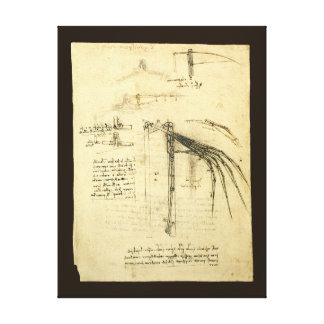 Winged Flying Machine Sketch by Leonardo da Vinci Canvas Print