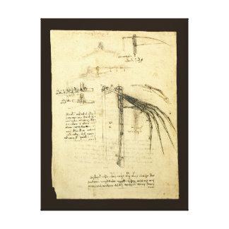 Winged Flying Machine Sketch by Leonardo da Vinci Canvas Print