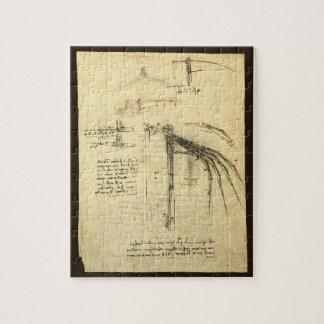 Winged Flying Machine Sketch by Leonardo da Vinci Jigsaw Puzzle
