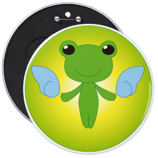 Winged Gekota 6 Cm Round Badge