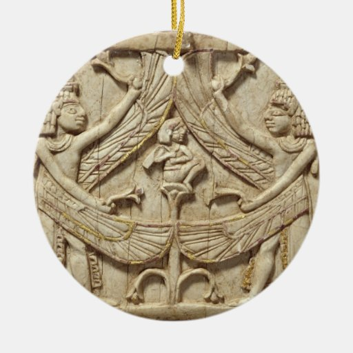 Winged genii, Assyrian Period, c.750 BC (ivory) Christmas Ornaments